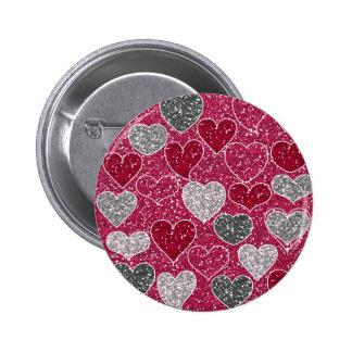 Corações de Bling do amor do brilho do feliz dia d Pins