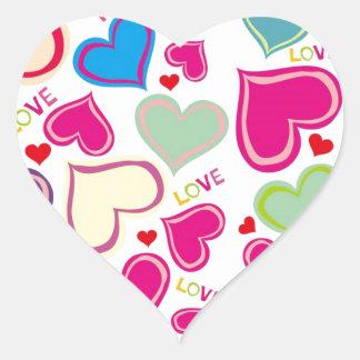 Corações de flutuação adesivo coração