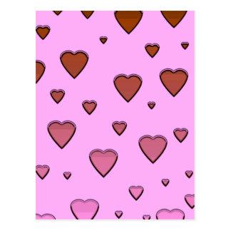 Corações de flutuação cartão postal