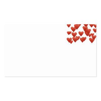 corações de flutuação cartão de visita