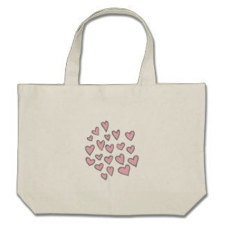 Corações de flutuação cor-de-rosa bolsas