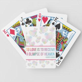 Corações de flutuação da bolha jogos de baralhos
