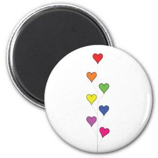 Corações de flutuação do balão - ímã ímã redondo 5.08cm