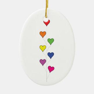Corações de flutuação do balão - ornamento