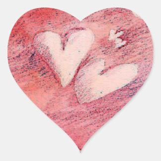 Corações de flutuação - etiqueta adesivo em forma de coração