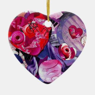 Corações de flutuação ornamento de cerâmica coração