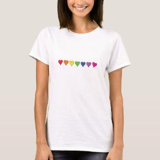 Corações de flutuação - t-shirt