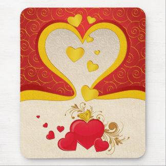 Corações de flutuação mousepad