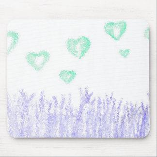 Corações de flutuação mousepads