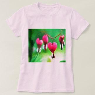 Corações de sangramento bonitos camiseta
