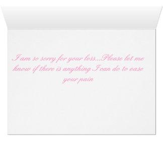 Corações de sangramento cartão comemorativo