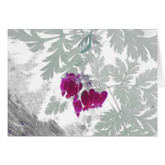 Corações de sangramento - cartão comemorativo