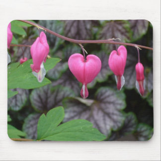 Corações de sangramento cor-de-rosa mouse pads