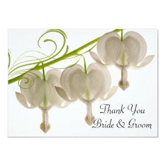 Corações de sangramento que Wedding o obrigado Convite 11.30 X 15.87cm