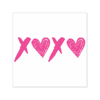 Corações de XOXO Carimbo Auto Entintado