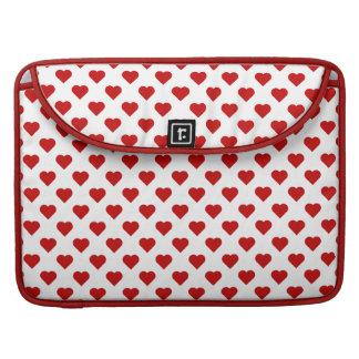 Corações do amor bolsas para MacBook pro