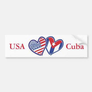 Corações do amor dos EUA Cuba Adesivo Para Carro