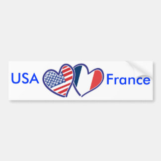 Corações do amor dos EUA France Adesivo Para Carro