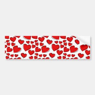 Corações do amor dos namorados adesivo para carro