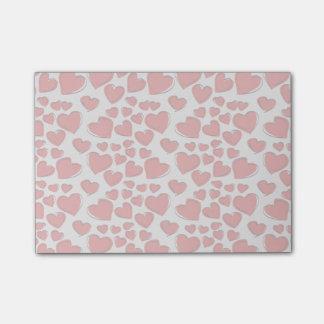 Corações do amor dos namorados bloco post-it