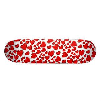 Corações do amor dos namorados shape de skate 18,7cm