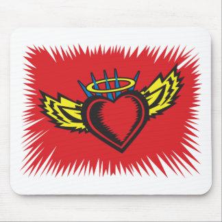 Corações do anjo mouse pad