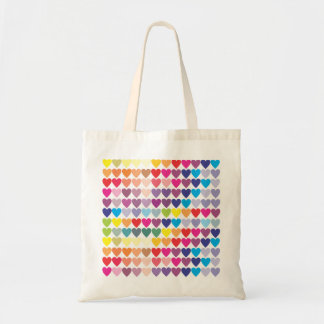Corações do arco-íris bolsa tote