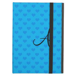 Corações do azul do monograma