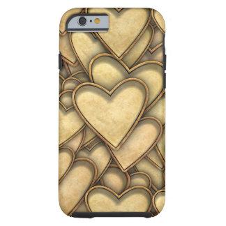 Corações dourados em toda parte capa tough para iPhone 6