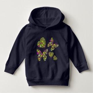 Corações e borboletas moletom