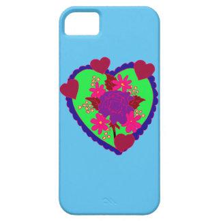 Corações e capa de telefone das flores capas iPhone 5 Case-Mate