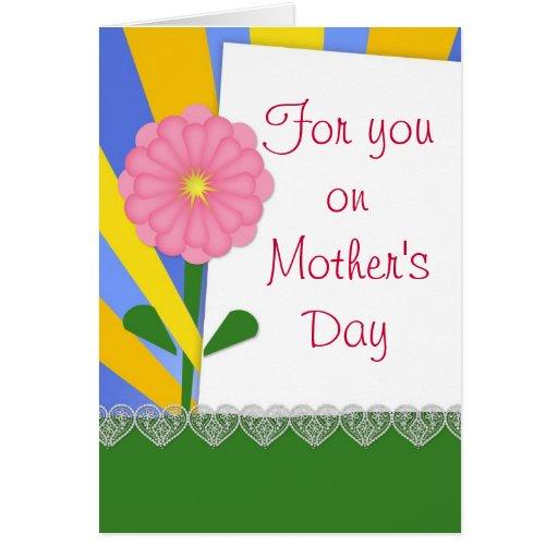 Corações e cartão cor-de-rosa do dia das mães da c