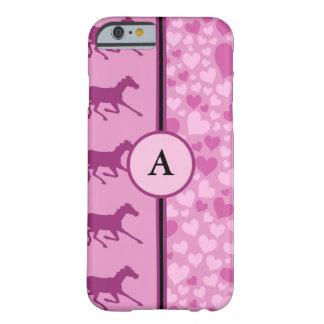 corações e cavalos capa iPhone 6 barely there