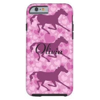 corações e cavalos capa para iPhone 6 tough