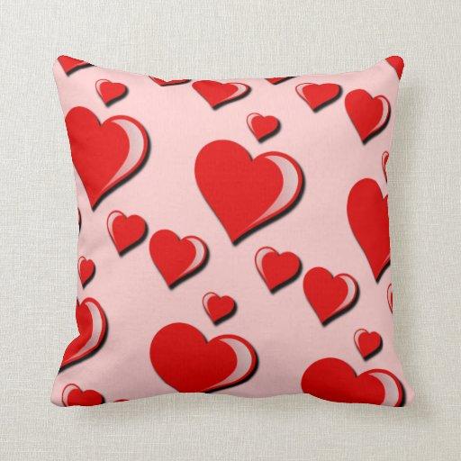 Corações e dia dos namorados elegantes do amor travesseiro de decoração