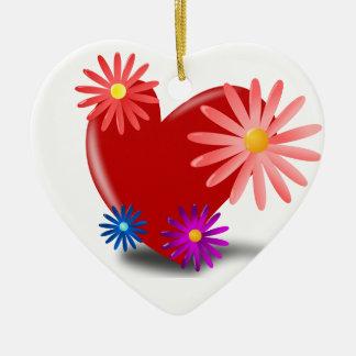 Corações e enfeites de natal das flores