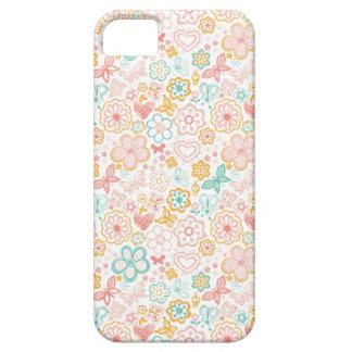 Corações e flores capa barely there para iPhone 5