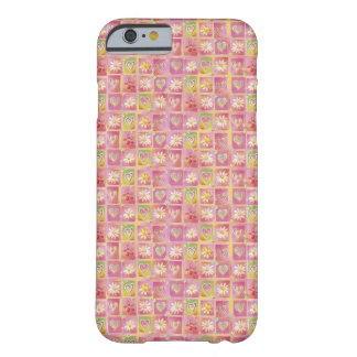 Corações e flores capa barely there para iPhone 6