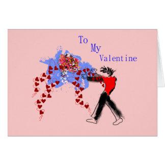 Corações e flores - cartão dos namorados