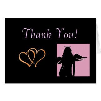 Corações e obrigado dos anjos você cartões
