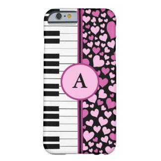 corações e piano capa iPhone 6 barely there