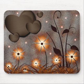 Corações & flores mousepad