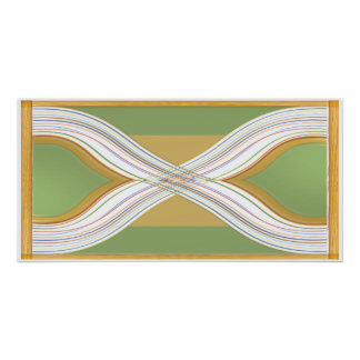 Corações gêmeos - paisagem verde Sparkling Poster