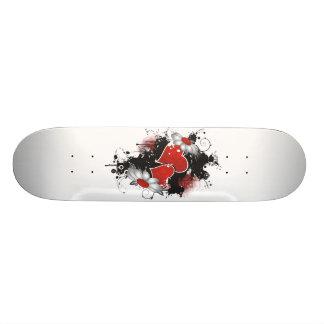 Corações & margaridas dobro - cores originais shape de skate 18,4cm