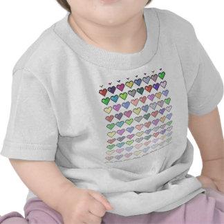 Corações retros camisetas