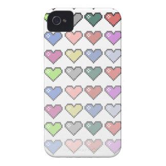 Corações retros capa iPhone 4