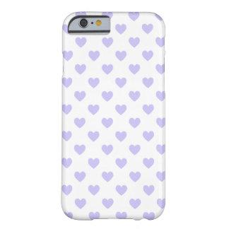 Corações roxos das bolinhas capa iPhone 6 barely there