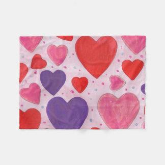 Corações roxos e vermelhos cor-de-rosa do dia dos