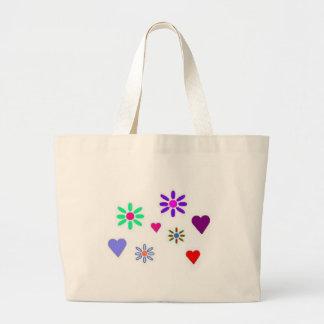 Corações & saco das flores bolsas para compras
