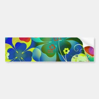 Corações, trevos e flores na arte abstracta adesivo para carro